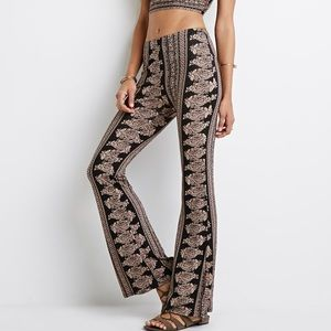 Forever 21 Printed Flared Pants